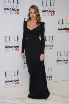 Cara Delevingne at the ELLE Style Awards 2015 held at The Skybar at the Walkie Talkie Tower in London